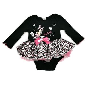 Minnie Mouse Frilly Leopard Tutu Top 3-6m